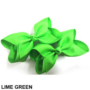 CLIP BOW PAIR DZ LIGHT GREEN