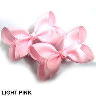 CLIP BOW PAIR DZ LIGHT PINK