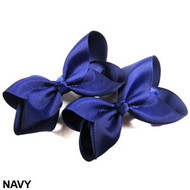 CLIP BOW PAIR DZ NAVY