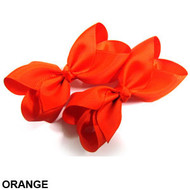 CLIP BOW PAIR DZ ORANGE