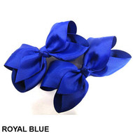 CLIP BOW PAIR DZ ROYAL BLUE