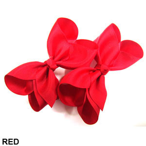 CLIP BOW PAIR DZ RED