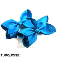 CLIP BOW PAIR DZ TURQUOISE
