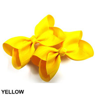 CLIP BOW PAIR DZ YELLOW