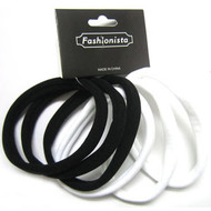 COTTON ELASTIC PONYTAIL 6PCS/CD
