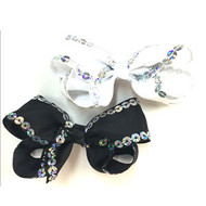 SEQUIN HAIR BOW PAIR DZ