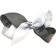CLIP BOW WHITE + DARK GRAY