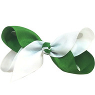 CLIP BOW WHITE + GREEN