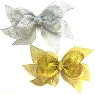 GLITTER BOW PAIR DZ