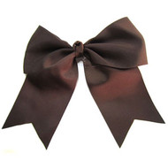 CLIP BOW DARK BROWN