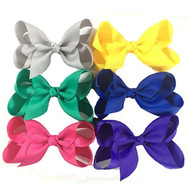 "6.5""  CLIP BOW  ASSORTED COLORS 12 PCS/DZ"