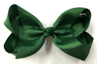 "6.5"" CHRISTMAS GREEN CLIP BOW 12 PCS/ DZ"