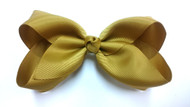 "6.5"" MUSTARD YELLOW CLIP BOW 12 PCS/ DZ"