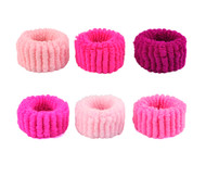 RUBBER BAND HAIR SCRUNCHIE  - 12PCS/CARD, 10CARD/PACK (120 PCS)