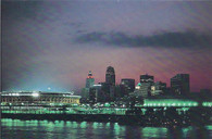 Riverfront Stadium & U.S. Bank Arena (Eric Bruce-Cincinnati)