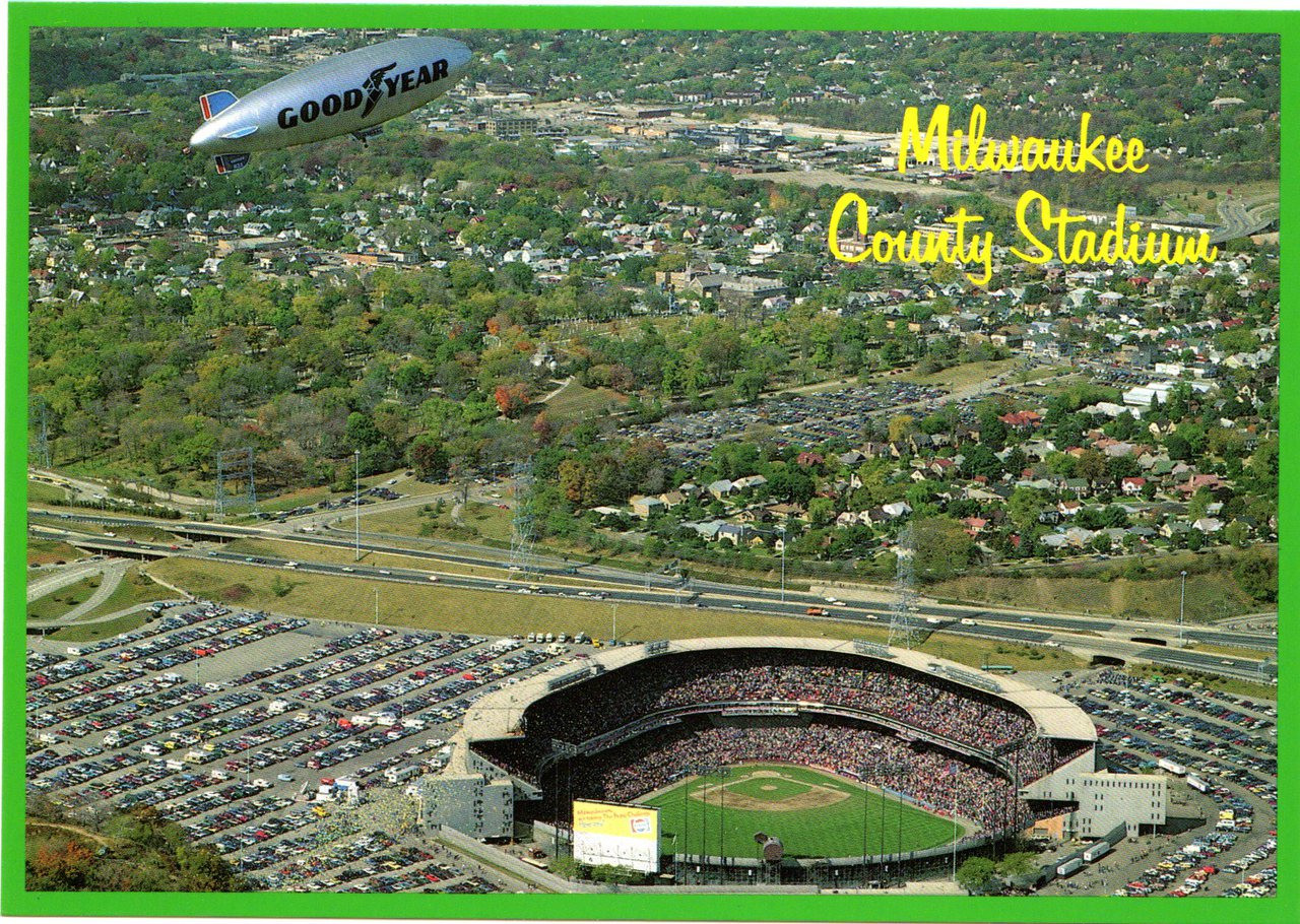 Milwaukee County Stadium (MW 21) - Stadium Postcards