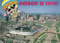 Tiger Stadium (Detroit) (1831 (PC 709) logo left)