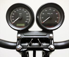 Gauge Bracket Indicator Block-off Plate -Wrinkle Black