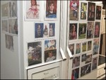 Bill's fridge with Magnetic Photo frames.