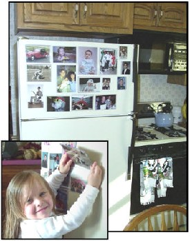 Magnetic photo frames for the fridge