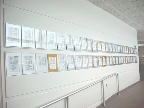 Magnetic Wall with Patents.