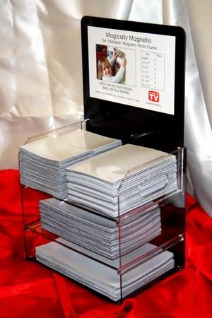 Standard Plexiglass Display with White Satin Soft Pocket Frames