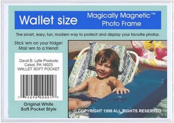 White Satin Magnetic Photo Frame