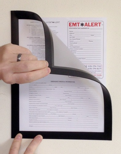 Fridge-lyt 8.5 x 11 Magnetic Document Page Holder