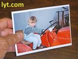 4x10 Panoramic White Magnetic Photo Frame
