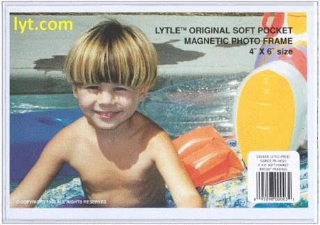 3.5x5 White Satin Magnetic Photo Frame