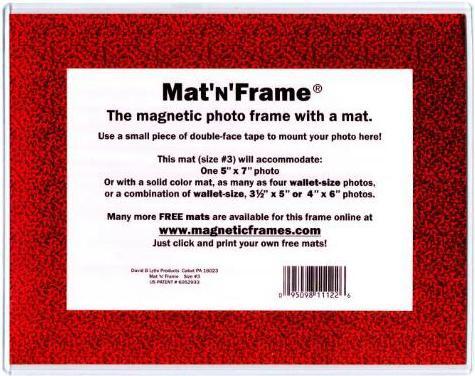 Matnframe Size 3 Magnetic Pocket Frame Magically Magnetic