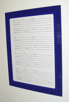 iMag 8.5 x 11 Magnetic Document Page Holder in blue.