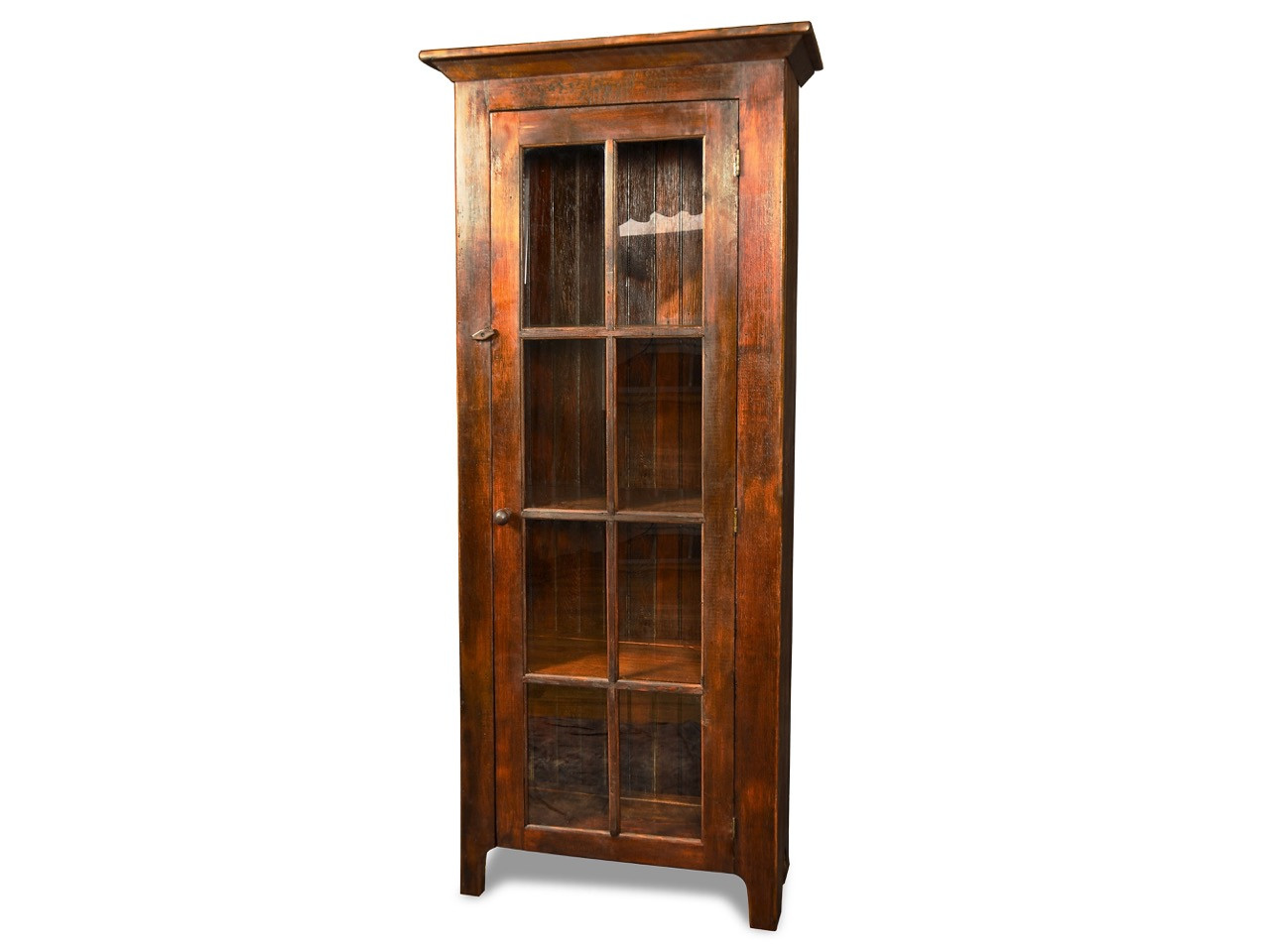 Silverlake Bookcase With Glass Doors Country Willow