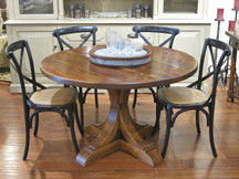 Silverlake Crescent Pedestal Dining Table