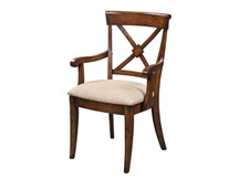 Manchester Braslow Dining Arm Chair - Fabric Seat
