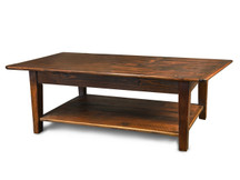 Silverlake Coffee Table with Straight Legs and Shelf