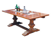 Silverlake Carved Trestle Dining Table
