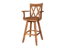 Ridgewood Double-X Swivel Bar Stool with Arms
