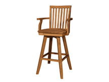 Ridgewood Mission Swivel Bar Stool with Arms