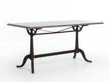 Fulton French-Industrial Bluestone Dining Table