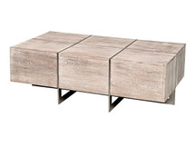 Gatehouse Geometric Coffee Table - Weathered