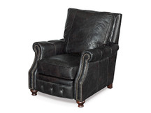 Saddle Black Leather Recliner