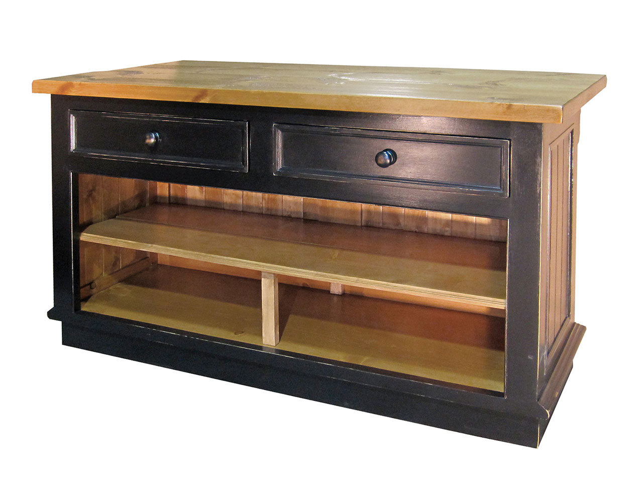 Claremont Kitchen Island - 2 Drawers - Country Willow