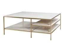 Unionworks Marble & Brass Coffee Table