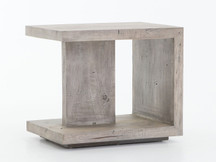 Fulton Geometric End Table - Weathered-Grey