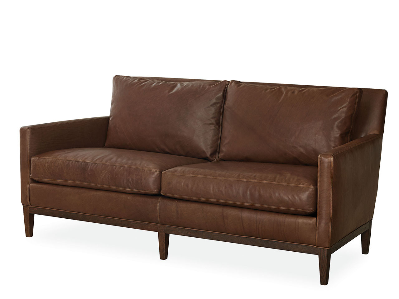 Welles Leather Apartment Sofa | Country Willow