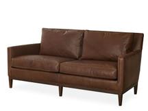 Welles Leather Apartment Sofa