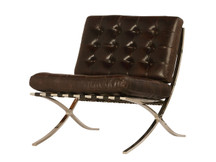 Unionworks Bauhaus Leather Chair - Vintage Dark Brown