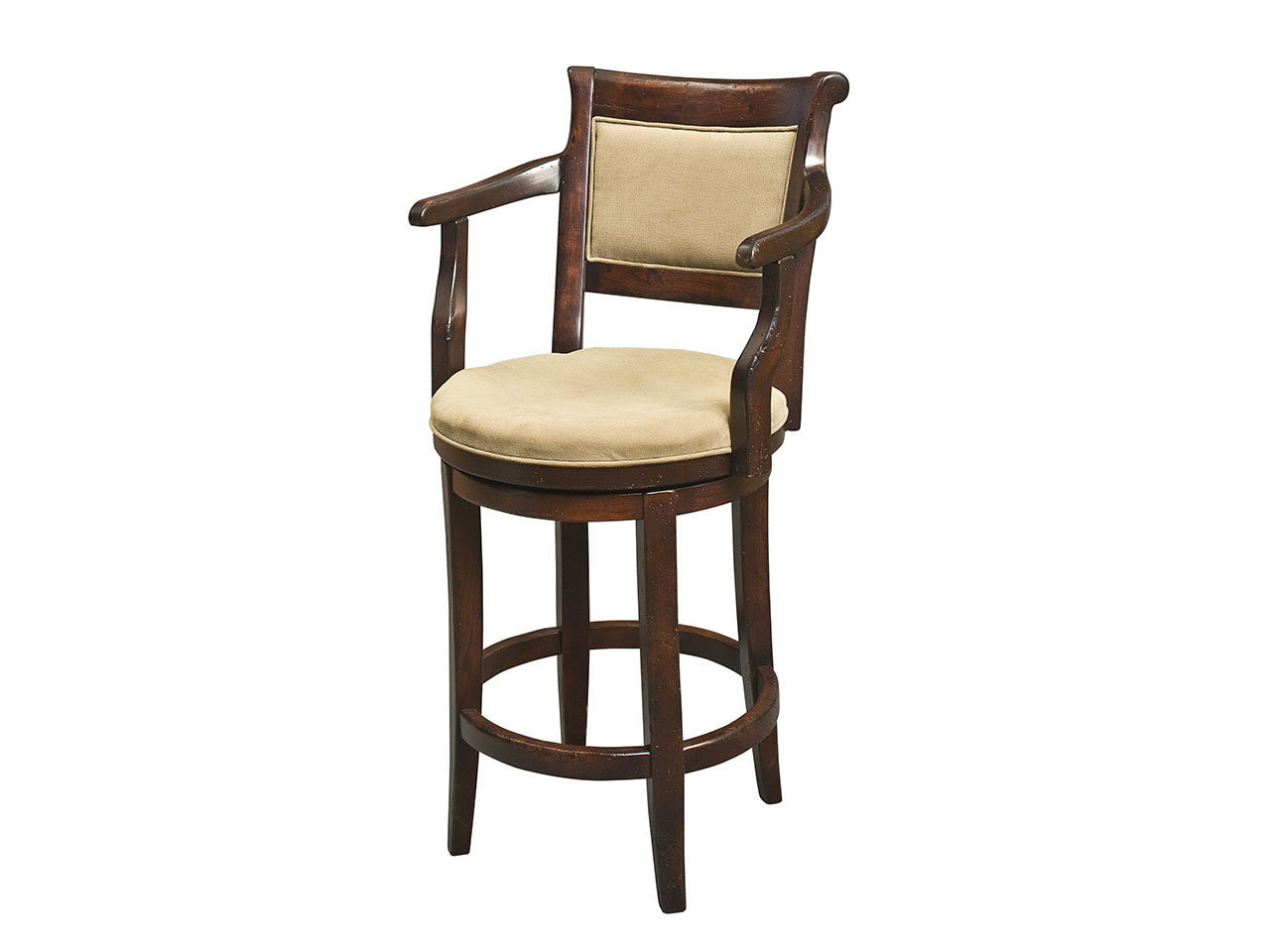 Outstanding Manchester Estate Swivel Bar Stool With Arms Country Willow Pdpeps Interior Chair Design Pdpepsorg
