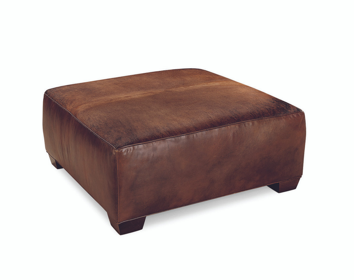 Marvelous Kelsey Square Leather Cocktail Ottoman Country Willow Machost Co Dining Chair Design Ideas Machostcouk